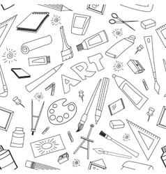doodle pattern art vector image