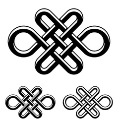 endless celtic knot black white symbol vector image