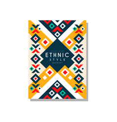 ethnic style abstract design template ethno vector image