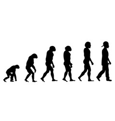 evolution rapper silhouette on white background vector image