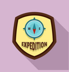 expedition logo flat style vector image