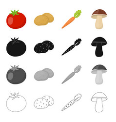 farm vegetarian diet and other web icon in vector image