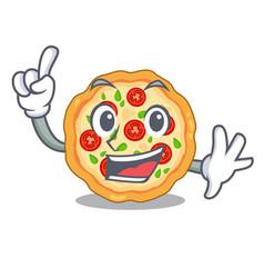 finger margherita pizza in mascot shape vector image