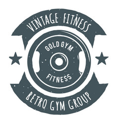 Fitness gold gym image vector