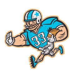 Football player cartoon vector