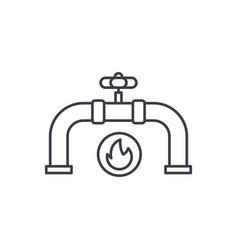 Gas pipeline line icon concept gas pipeline vector