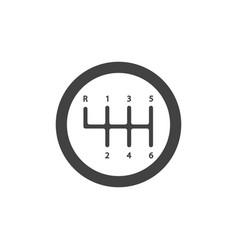 Gear shifter icon sign vector