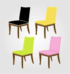 Graphic of dining chairs vector image