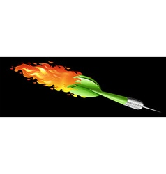 Green dart on fire vector