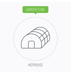 Greenhouse complex hothouse building vector