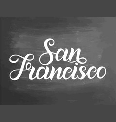 greetings from san francisco usa typography vector image