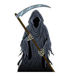 Grim reaper pop art vector
