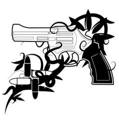 Gun emblem vector