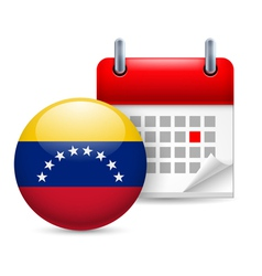 Icon of National Day in Venezuela vector image