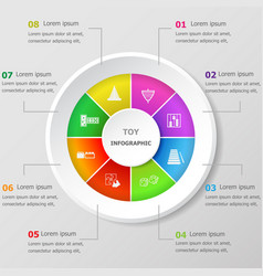 Infographic design template with toy icons vector