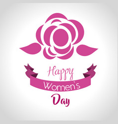 International women day card icon vector