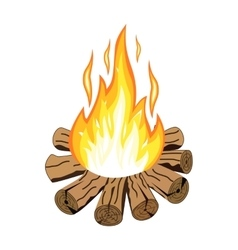 Isolated camp fire vector