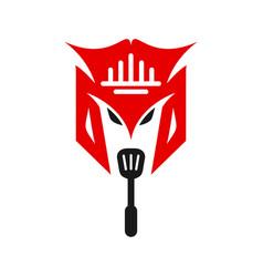 japanese mask logo design and restaurant vector image