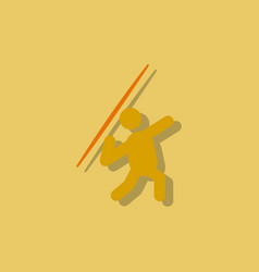 Javelin throwing athlete man - in sticker style vector