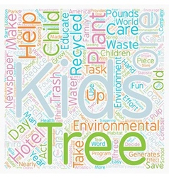 Kids And Trees Grow With The Environmental Three R vector image
