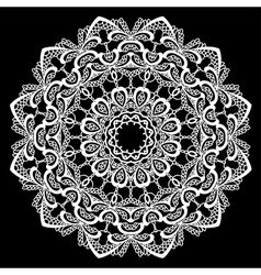 Lace round 14 380 vector