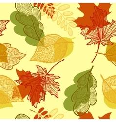 Leaves autumn pattern vector