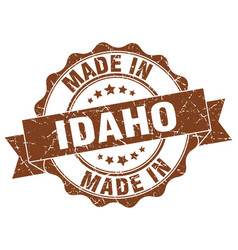 Made in idaho round seal vector