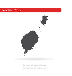 Map sao tome and principe isolated vector