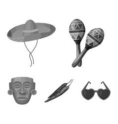 Maracas national musical instrument sambrero vector