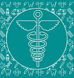 medicine symbol icon vector image