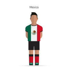 Mexico football player soccer uniform vector