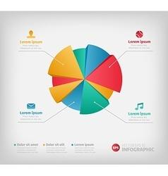 Modern 3d infographics pie chart for web vector