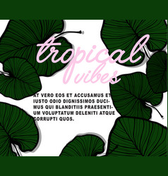 nature banner tropical vibes poster with vector image