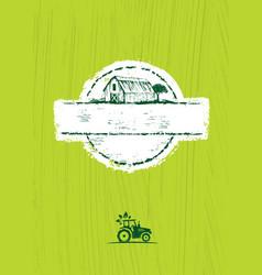 old barn local farm craft food design vector image