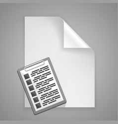 Paper symbol tablet vector