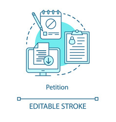 Petition concept icon signature collection idea vector