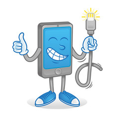 Phone with good usb cord vector