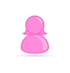 pink female profile picture silhouette profile vector image