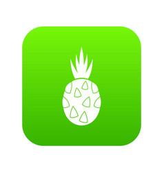 pitaya dragon fruit icon digital green vector image