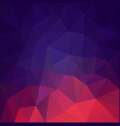 polygonal square background blue red magenta vector image