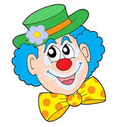 Portrait of clown vector