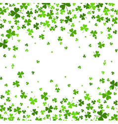 Saint patrick s day border with green four vector
