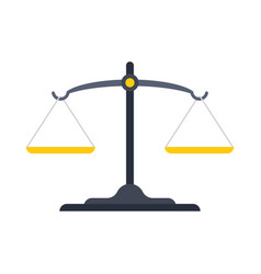 Scales justice icon vector