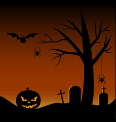 scary halloween tree vector image
