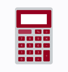School calculator icon in flat style isolated vector