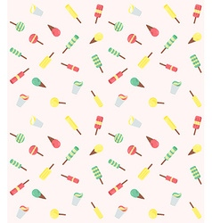 seamless pattern from ice-creams vector image