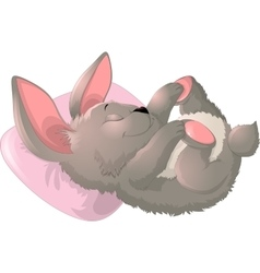 Sleep bunny on a white background vector