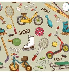 sports and action games pattern vector image