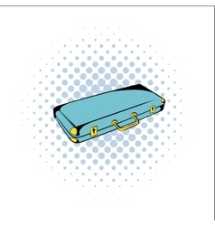 Suitcase for weapons comics icon vector