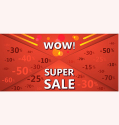 Super sale banner of red color vector